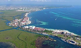 Cancun Aerial Photo