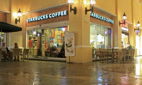 Starbucks Plaza Hollywood cancun